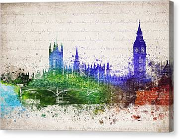Palace Of Westminster Canvas Print by Aged Pixel