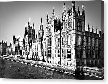 Palace Of Westminster Canvas Print by Elena Elisseeva