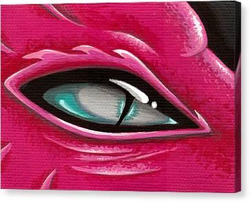 Pale Eye Of Tourmaline Canvas Print by Elaina  Wagner