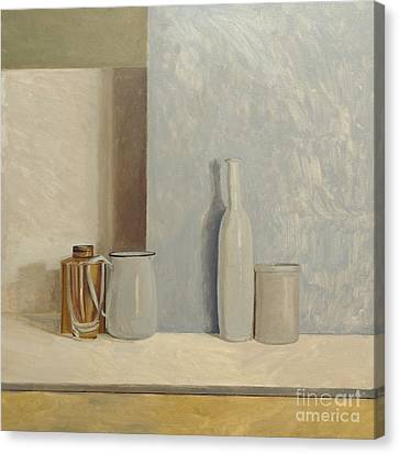 Pale Grey And Blue  Canvas Print by William Packer
