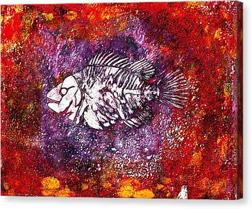 Paleo Fish Canvas Print by Bellesouth Studio