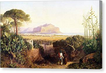 Palermo Sicily Canvas Print by Edward Lear