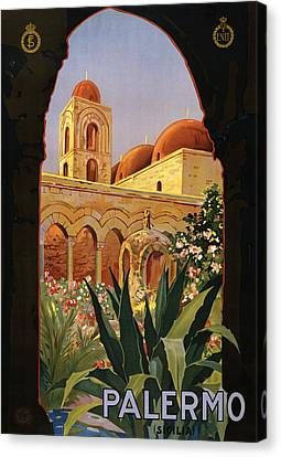 Palermo Sicily Italy Canvas Print by Georgia Fowler