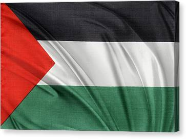 Palestine Flag Canvas Print by Les Cunliffe