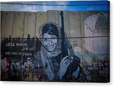 Palestinian Graffiti Canvas Print by David Morefield
