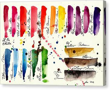 Palette Canvas Print by Tiberiu Soos