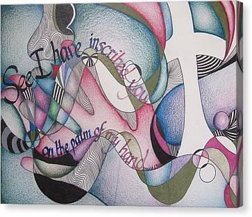 Palm Of My Hand Canvas Print by Amanda Patrick
