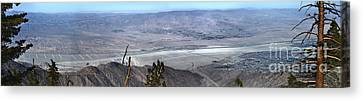 Palm Springs Panoramic View - 02 Canvas Print by Gregory Dyer