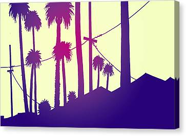 Palms 2 Canvas Print by Giuseppe Cristiano