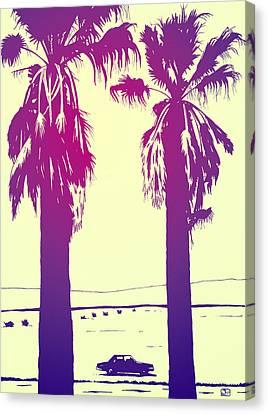 Palms Canvas Print by Giuseppe Cristiano