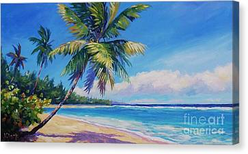 Palms On Tortola Canvas Print by John Clark