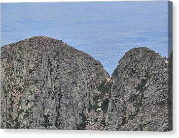 Pamola And Chimney Peaks Canvas Print by Lori Deiter