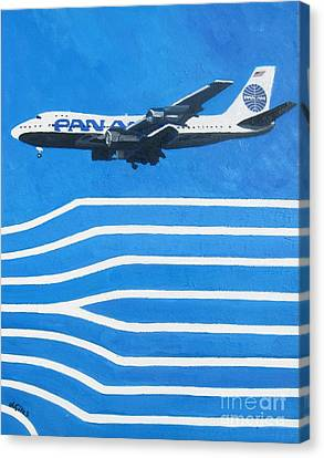 Pan Am Clipper Canvas Print by Lesley Giles