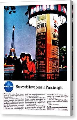 Pan Am To Paris Canvas Print by Benjamin Yeager