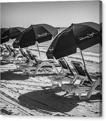 Panama Jack Blues - Higgs Beach - Key West - Square - Black And White  Canvas Print by Ian Monk