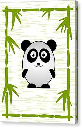 Panda - Animals - Art For Kids Canvas Print by Anastasiya Malakhova
