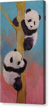 Panda Fun Canvas Print by Michael Creese