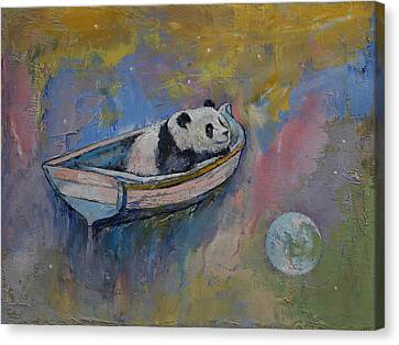 Panda Moon Canvas Print by Michael Creese