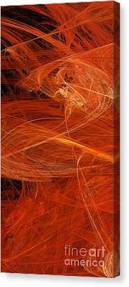 Panel 1 Of 5 Dancing Flames 2 H Pentaptych - Abstract - Fractal Art Canvas Print by Andee Design