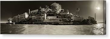 Panorama Alcatraz Up Close Canvas Print by Scott Campbell