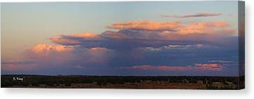 Panorama Colors In The Clouds Canvas Print by Roena King