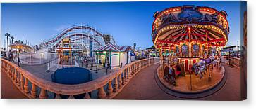 Panorama Giant Dipper Goes 360 Round And Round Canvas Print by Scott Campbell