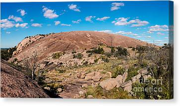 Panorama Of Enchanted Rock State Natural Area - Fredericksburg Texas Hill Country Canvas Print by Silvio Ligutti