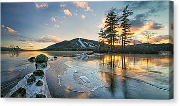 Panorama Of Moose Pond Canvas Print by Darylann Leonard Photography