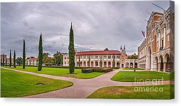 Panorama Of Rice University Academic Quad II - Houston Texas Canvas Print by Silvio Ligutti