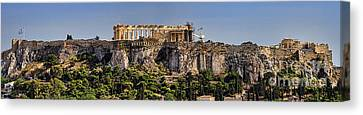 Panorama Of The Acropolis In Athens Canvas Print by David Smith