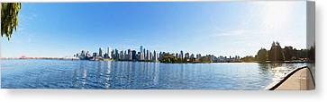 Panorama Of Vancouver Harbor Canvas Print by Jodi Jacobson