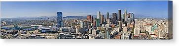 Panoramic Los Angeles Canvas Print by Kelley King