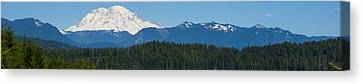 Panoramic Rainier Rt.25 Canvas Print by Tikvah's Hope