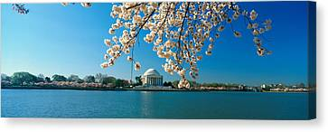 Panoramic View Of Jefferson Memorial Canvas Print by Panoramic Images