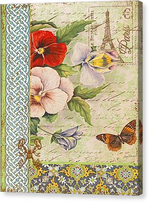 Pansy Garden-a Canvas Print by Jean Plout