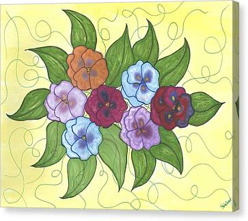 Pansy Posy Canvas Print by Susie WEBER