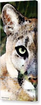 Panther Art - Florida's Feline Canvas Print by Sharon Cummings
