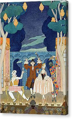 Pantomime Stage Canvas Print by Georges Barbier