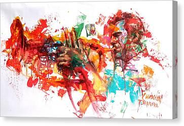 Paolo Fresu Canvas Print by Massimo Chioccia and Olga Tsarkova