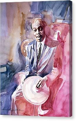 Papa Jo Jones Jazz Drummer Canvas Print by David Lloyd Glover