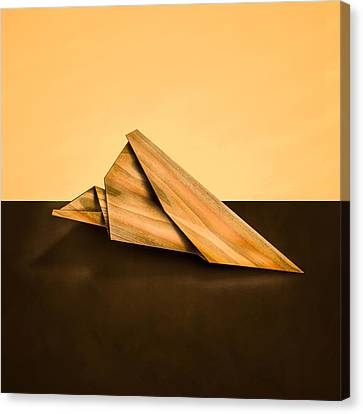 Paper Airplanes Of Wood 2 Canvas Print by Yo Pedro