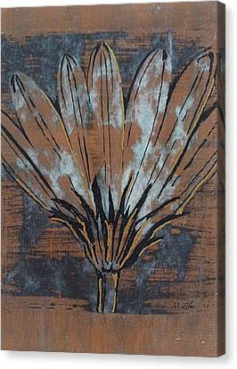Paper Flower Canvas Print by Megan Washington