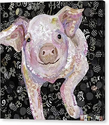 Paper Pig Canvas Print by Beth Watkins