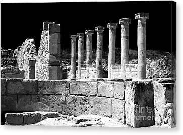 Paphos Columns Canvas Print by John Rizzuto