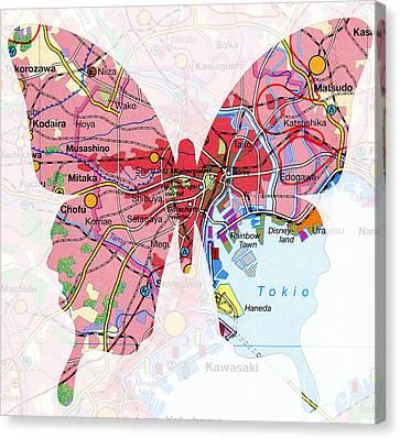 Papillon - Tokio Canvas Print by Steffi Louis
