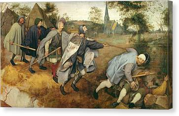 Parable Of The Blind, 1568 Tempera On Canvas Canvas Print by Pieter the Elder Bruegel