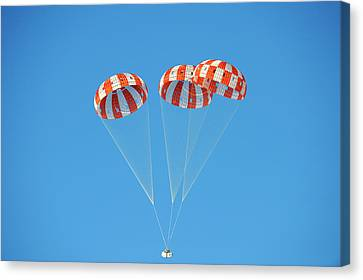 Parachute Test For Orion Spacecraft Canvas Print by Nasa