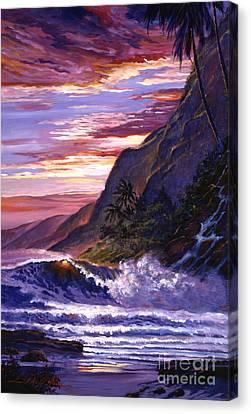 Paradise Beach Canvas Print by David Lloyd Glover