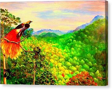 Paradise Bird Of Papua Canvas Print by Jason Sentuf