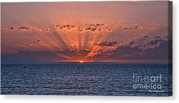 Paradise Sunset Canvas Print by Alberto Agrusa
